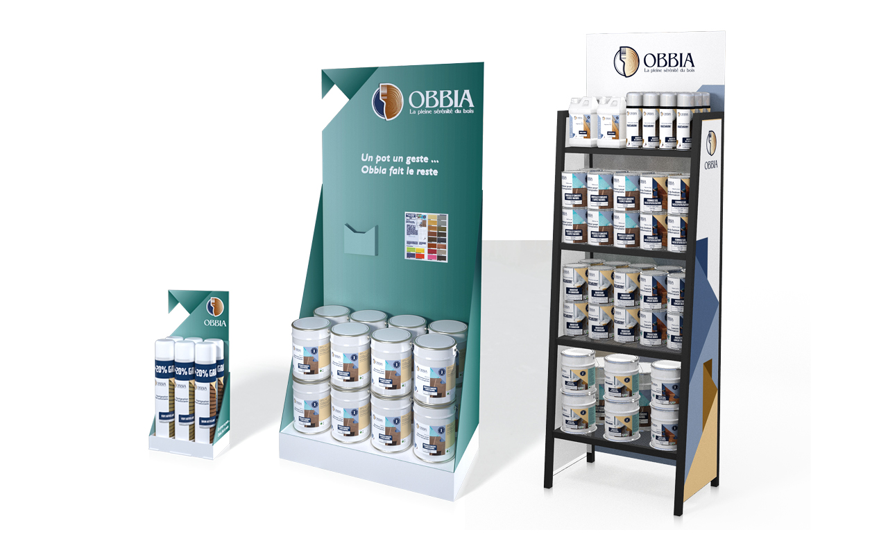 Gamme PLV Obbia